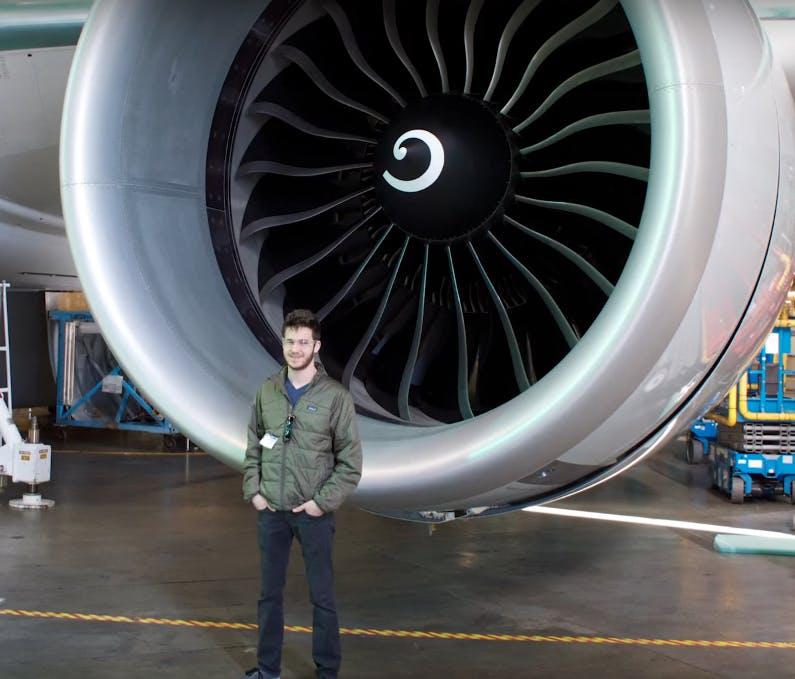 Luca Iaconi-Stewart visits Boeing
