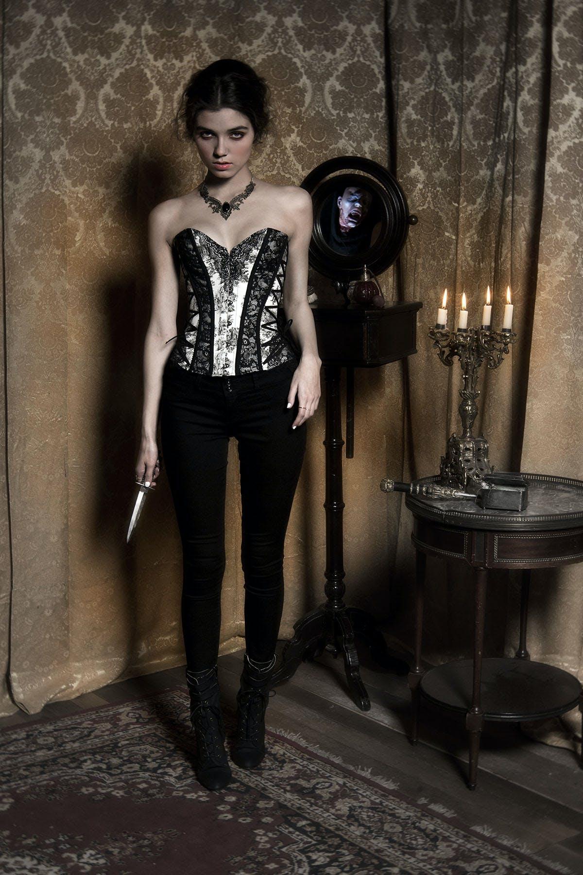 Lace-up corset ($59.50)