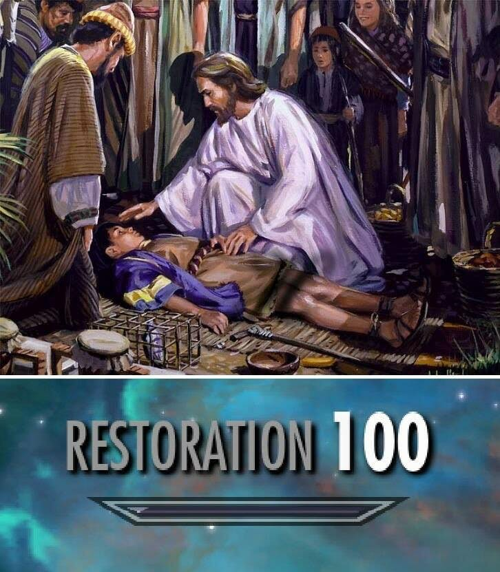 jesus skyrim restoration meme