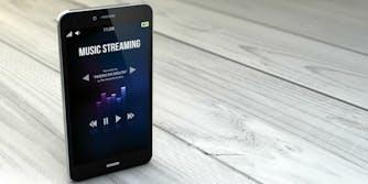 smartphone on-demand music streaming