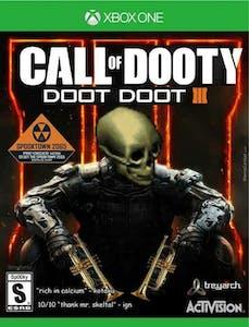 call of dooty doot doot spooky skull meme