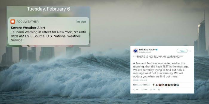 tsunami false alarm accuweather national weather service