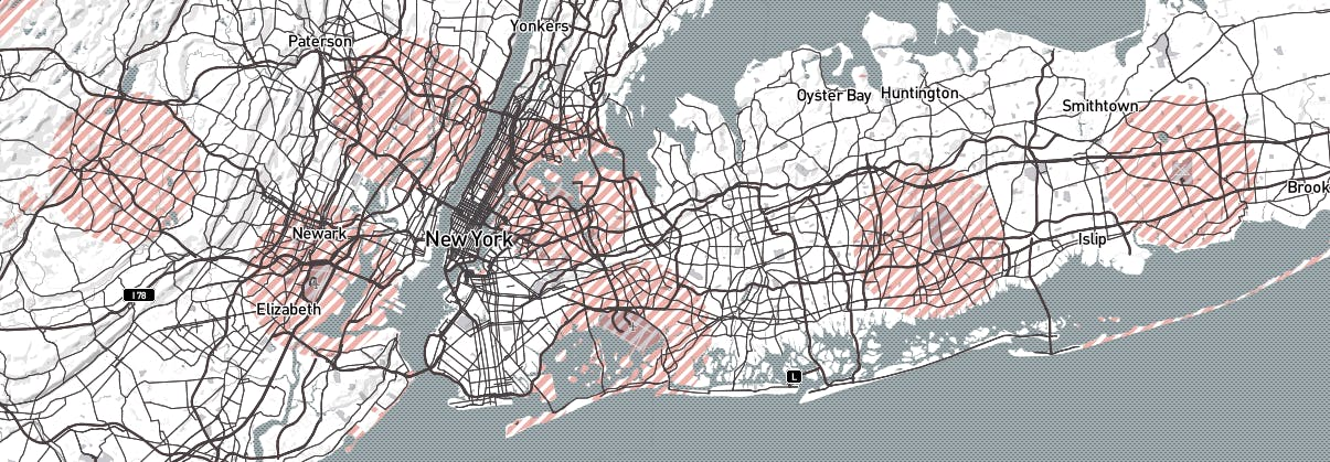 New York City no drone map