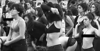 Feminist protestors in Argentina