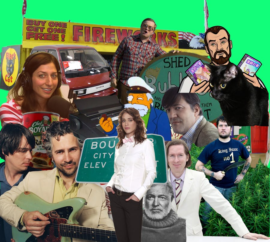 Yes, it's totally normal for a 28-year-old to make a collage of stuff they think is cool.