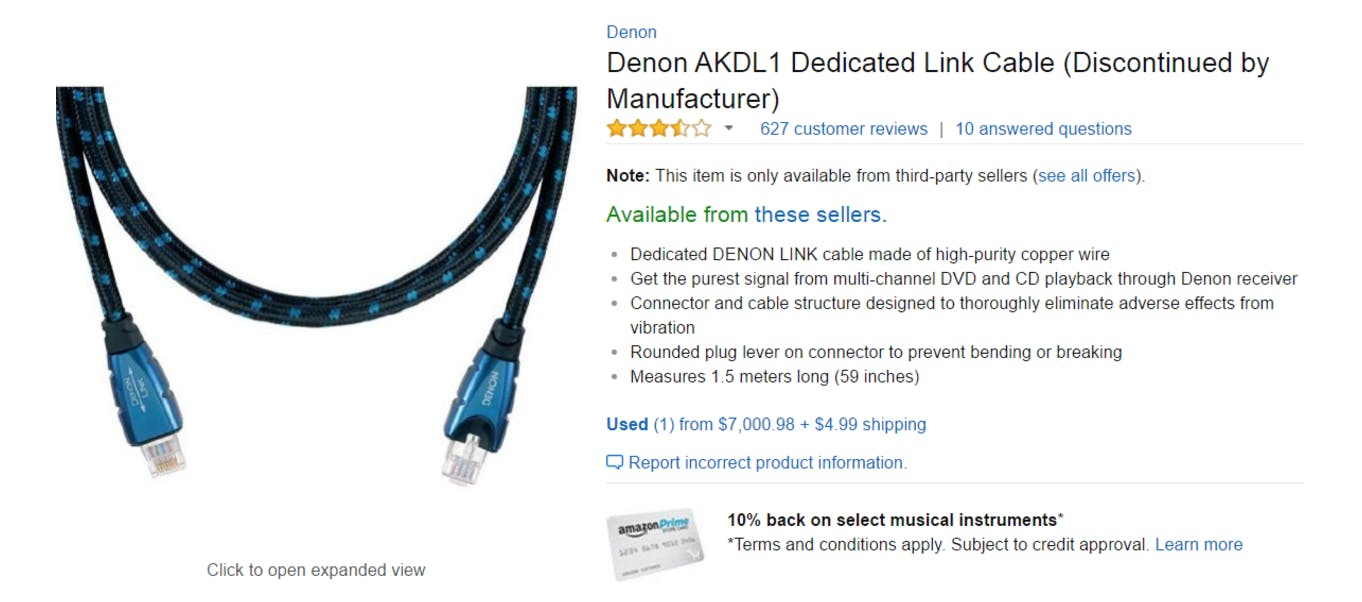 best amazon reviews : Denon AKDL1 Dedicated Link Cable