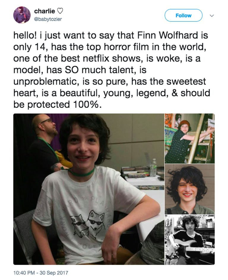 finn wolfhard age