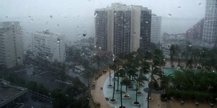 Hurricane Irma hits downtown Miami