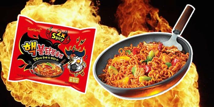 fire noodle challenge