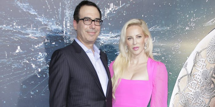 U.S Treasury Secretary Steve Mnuchin and Wife Louise Linton