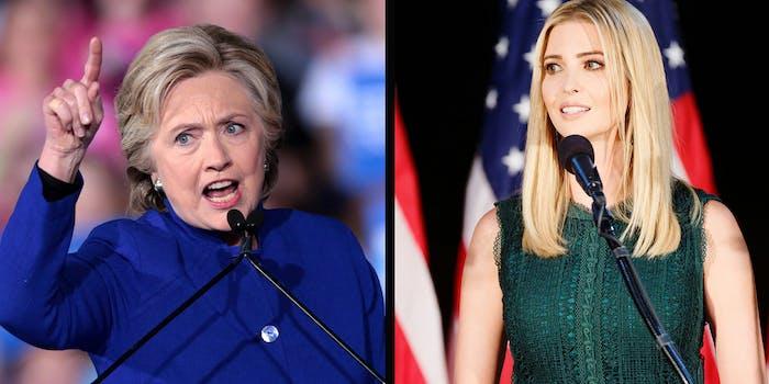 Hillary Clinton and Ivanka Trump