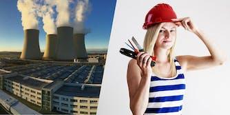 CZE power plant that launched a bikini internship competition
