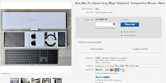 ebay imac pro keyboard mouse trackpad