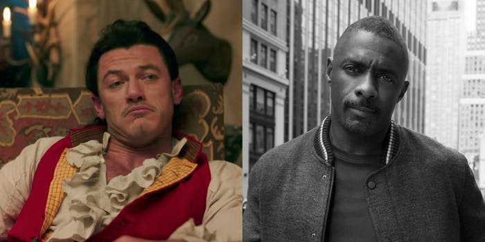 Gaston and Idris Elba, side by side