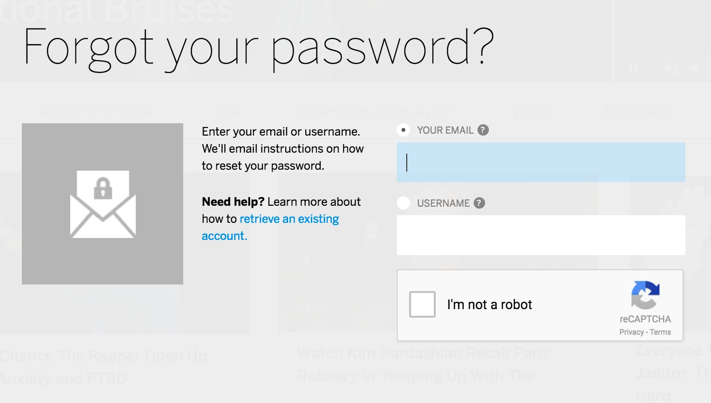 myspace password