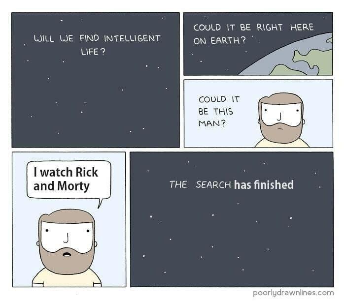rick and morty intelligent life meme comic