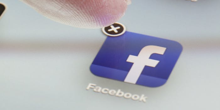 facebook delete app ios
