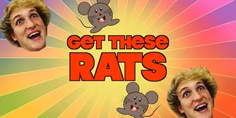 """Logan Paul """"Get These Rats"""" title"""