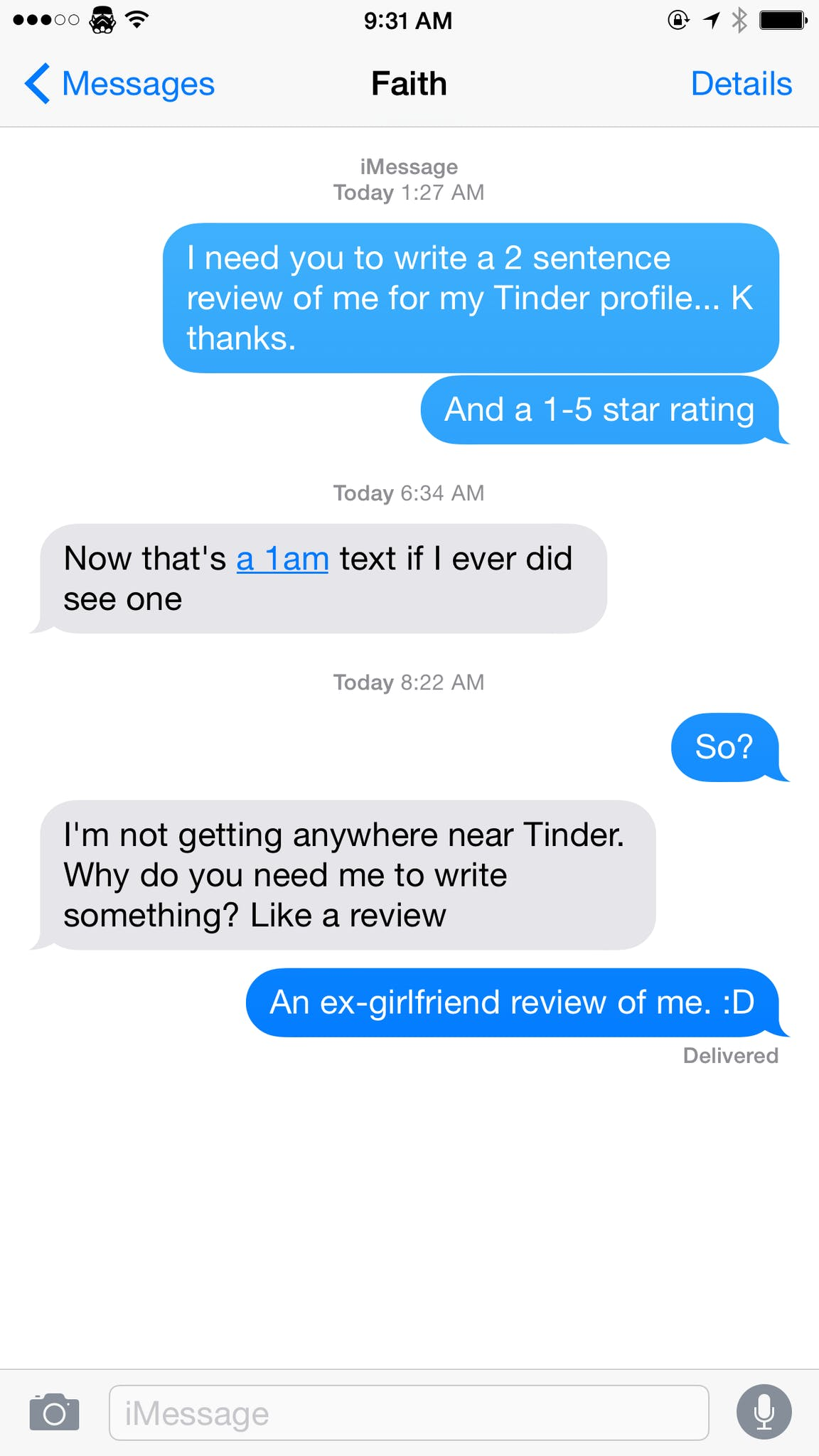 This guys ex-girlfriends wrote him Tinder reviews—with