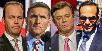 mueller charges filed: Rick Gates, Michael Flynn, Paul Manafort, George Papadopoulos