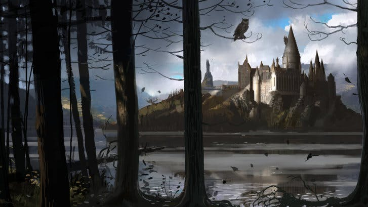 Hogwarts, as seen in the Goblet of Fire