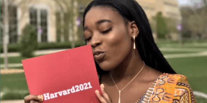 Priscilla Samey prom Harvard acceptance letter