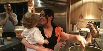 Salma Hayek cooks, babysits for Ryan Reynolds