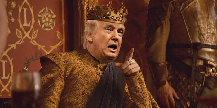 Donald Trump as King Joffrey from Game of Thrones