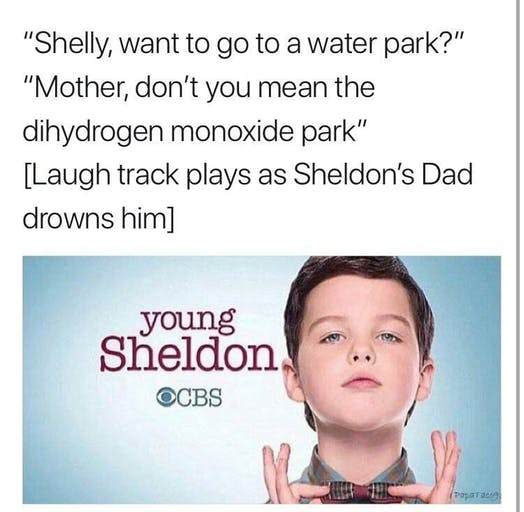 best new memes : young sheldon