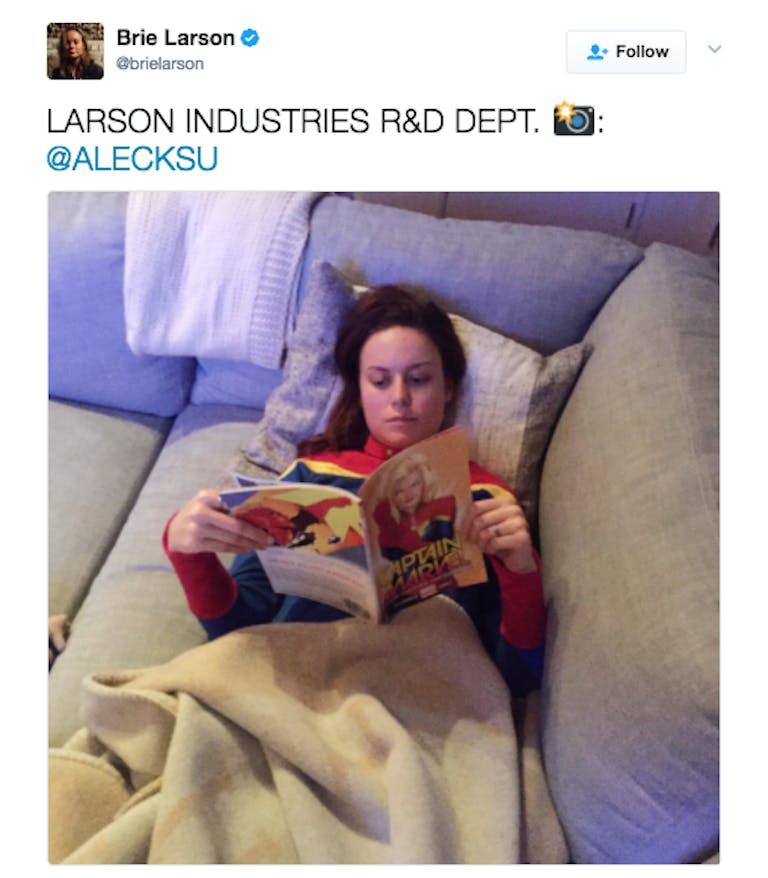 captain marvel movie brie larson