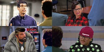 Seinfeld dressed as hipsters