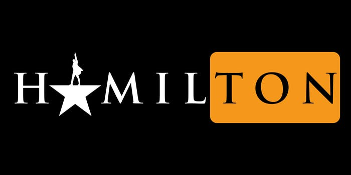 Hamilton/Pornhub logo mashup