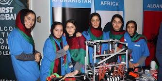 The Afghan girls robotics team