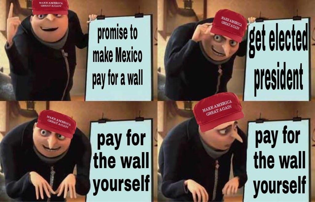 trump gru meme