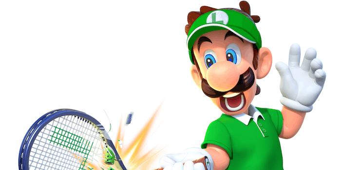 luigi mario tennis aces penis outline