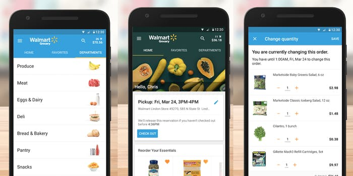 Walmart Grocery grocery delivery app