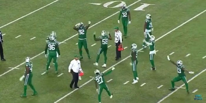 New York Jets dancing hashtag