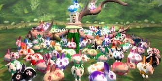 army of second life ozimals bunnies