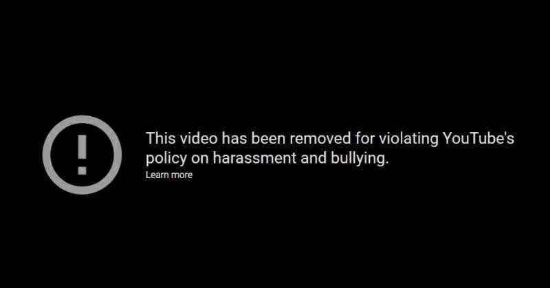 ItzArya YouTube removal