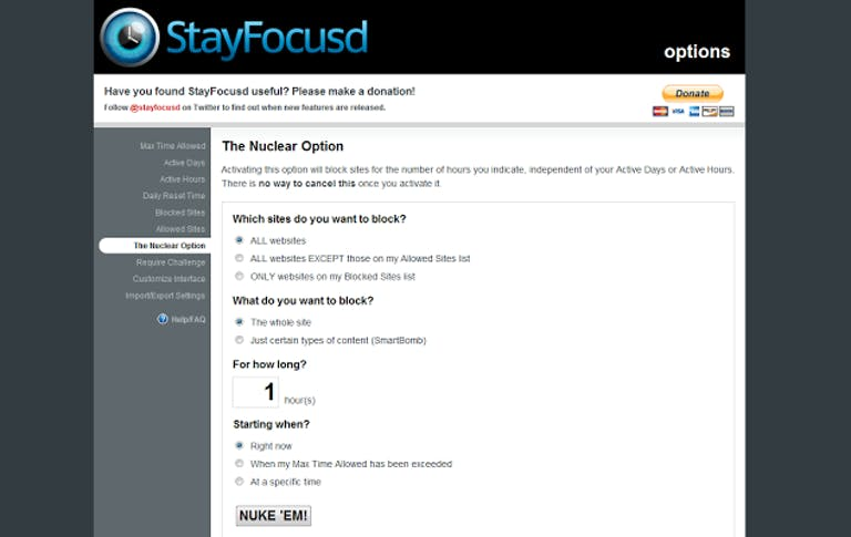 how to unplug from the internet : StayFocusd app