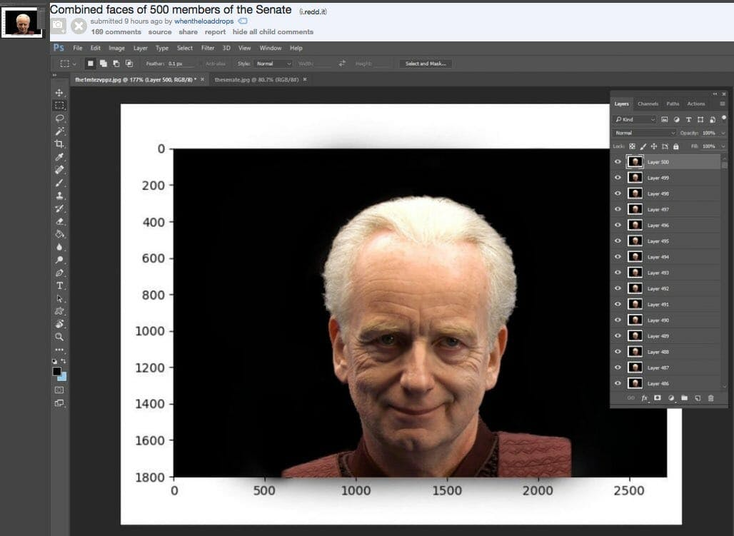 palpatine 500 faces meme the senate