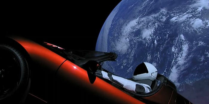 tesla roadster elon musk spacex falcon heavy
