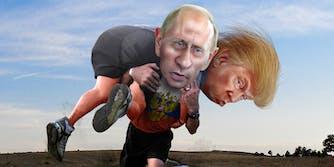 Putin carrying Trump