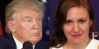 Lena Dunham compares Donald Trump to Dylann Roof