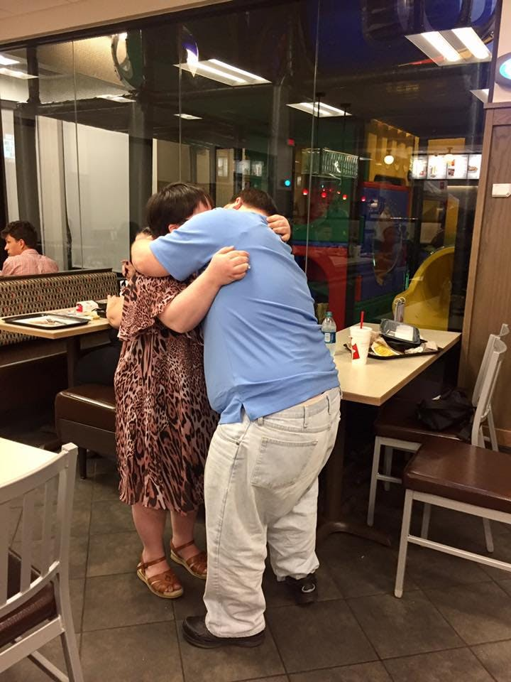 Nick and Sarah from Austin, Texas get engaged in Chick-fil-A