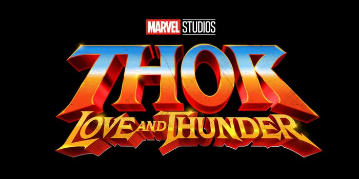 marvel thor love thunder