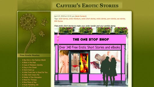 A screengrab from curated erotica collection Caffeiri.