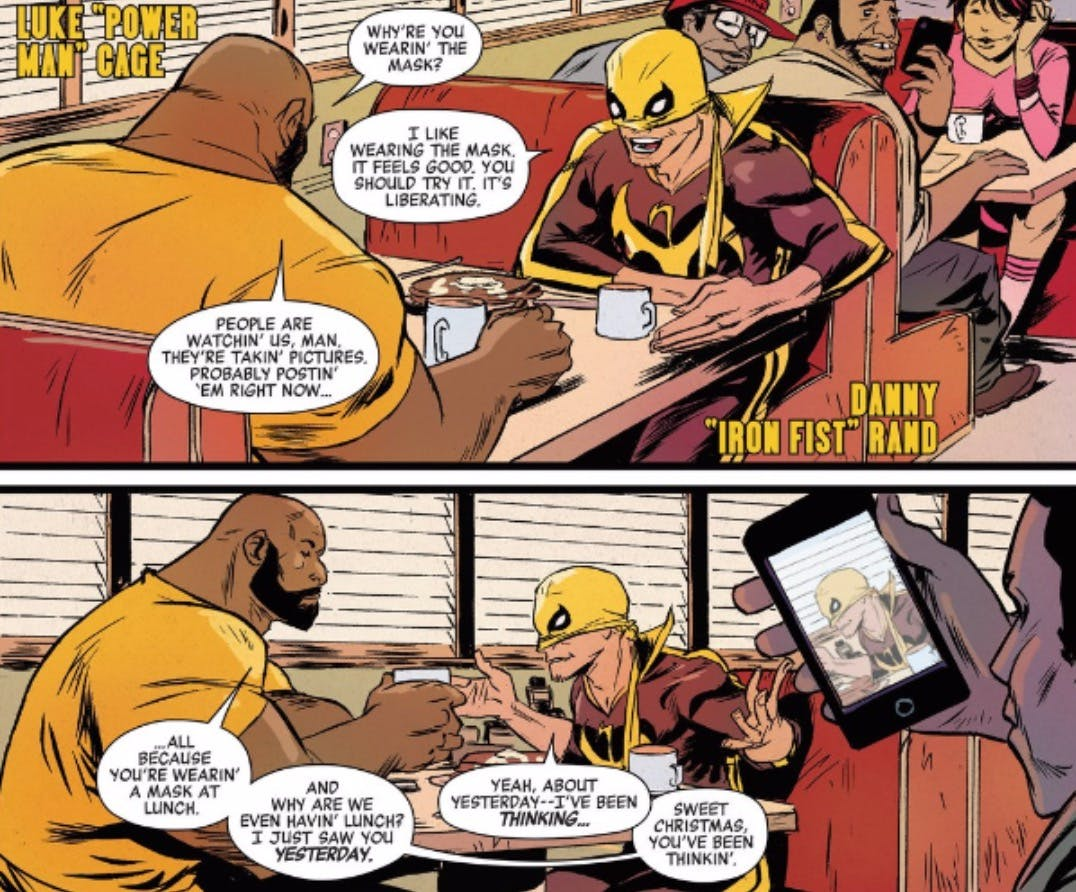 luke cage and iron fist comic