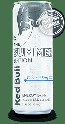 red bull white summer coconut berry