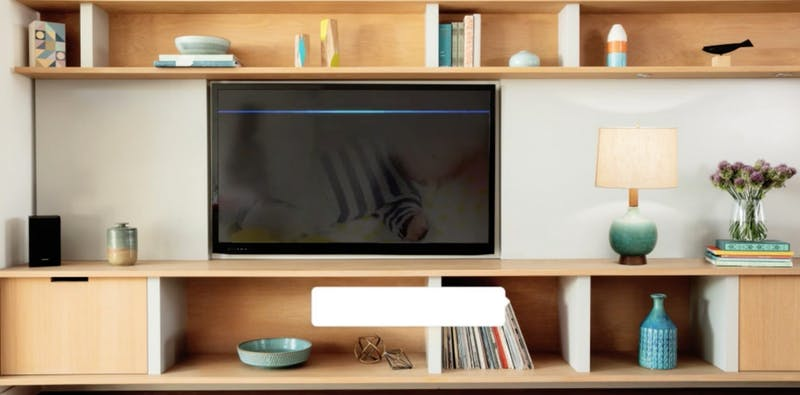 amazon fire TV in a room